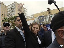 Tzipi Livni at Bat Yam near Tel Aviv