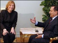 Tzipi Livni and Hosni Mubarak