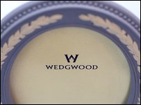 Close up detail on a Wedgwood photoframe in the Waterford Wedgwood flagship store on January 5, 2009 in London, England