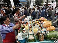 Vendedores de alimentos en Ciudad de M�xico