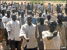 Members of Sudan People's Liberation Army training (Archive picture)
