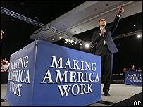 Barack Obama, presidente de EE.UU., en audiencia con grupo de ciudadanos en Ft. Myers, Florida