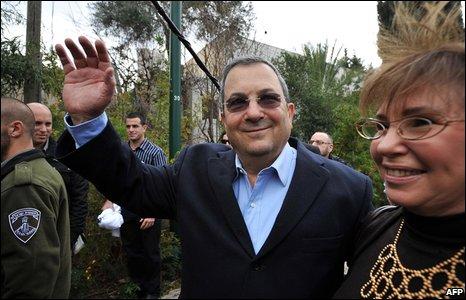Ehud Barak at a polling station