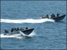 Royal Navy and Royal Marines off Somali coast, 2009