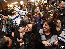 Kadima supporters celebrate