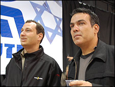 Likud supporters Rami (r) and Sali (l)