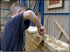 Trainee bricklayer
