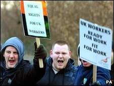 Protests outside Staythorpe power station