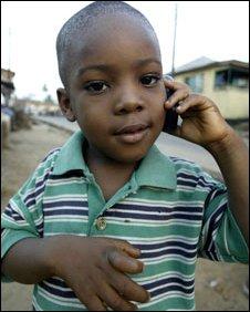 A boy in a slum in Sierra Leone