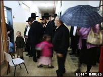 Electores israelíes.