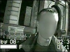 Video still from Derby police 