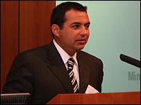 Ernesto Cordero, Secretario de Desarrollo Social de M�xico. Cortes�a: Embajada de M�xico en el Reino Unido