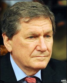 Richard Holbrooke, new US special envoy to Afghanistan and Pakistan, at the Foreign Ministry in Islamabad on February 10, 2009.