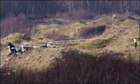The wreckage of one of the aircraft near Kenfig, Bridgend Photo: Athena Picture Agency