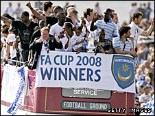 Portsmouth celebrate their FA Cup win