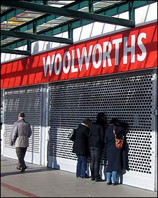 Outside of former Woolworths store in Corby