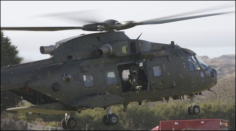 Helicopters aided emergency services following the crash