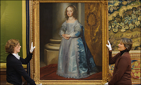 Van Dyck portrait of Princess Mary