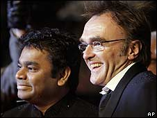 A R Rahman with Danny Boyle (right)