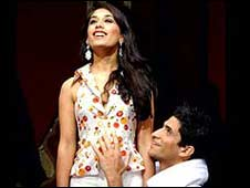 Preeya Kalidas and Raza Jaffrey in Bombay Dreams