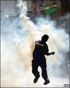 Protester in Karachi