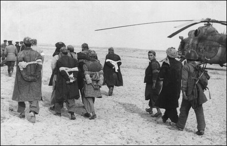 Afghan prisoners (image from Soviet soldier Valery Pyatygin's collection, supplied by his son Anton)