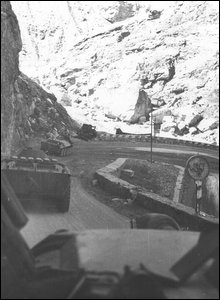 Soviet armoured cars on an Afghan mountain road (image from Soviet soldier Valery Pyatygin's collection, supplied by his son Anton)