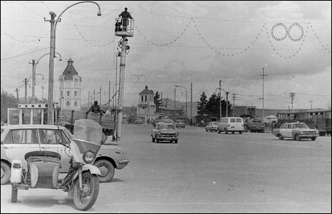 A street scene in Kabul (image from Soviet soldier Valery Pyatygin's collection)