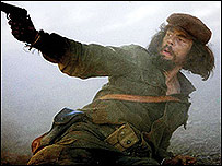 Benicio del Toro en el papel de Che Guevara