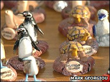 Animal figurines on sale (BBC)