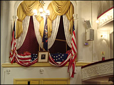 Presidential box, Ford's Theatre, Washington DC
