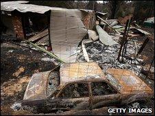 Debris in Kinglake, Australia