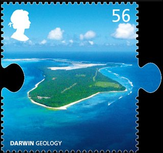 Darwin geology stamp