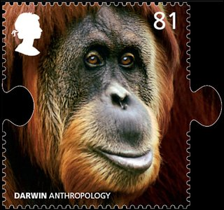 Darwin anthropology stamp