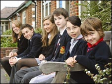 Pupils from Wycliffe College