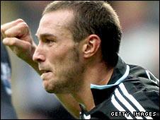 Xisco scores a goal for Newcastle