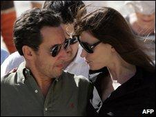 President Nicolas Sarkozy and Carla Bruni