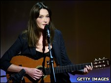 France's first lady, Carla Bruni
