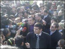Mikhail Saakashvili in Zugdidi