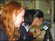School Reporters from Rainham School for Girls in Gillingham, Kent