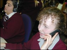School Reporters at St Aidans C of E Technology College in Lancashire