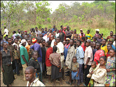 Displaced people at Ezo camp