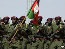 South Sudan troops on parade