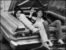 Woodstock festival goers