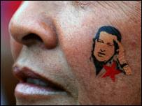 Simpatizante de Hugo Chávez