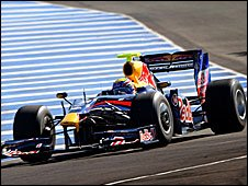 Mark Webber drives the new Red Bull in Jerez