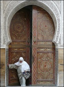 Zaouia, the religous centre fo the Tijani brotherhood in Fez