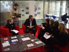 School Reporters fromHayesfield Technology College in Bath