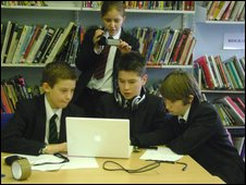 School Reporters at Tendring Technology College in Essex
