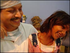 Pinki with Dr Subodh Kumar Singh